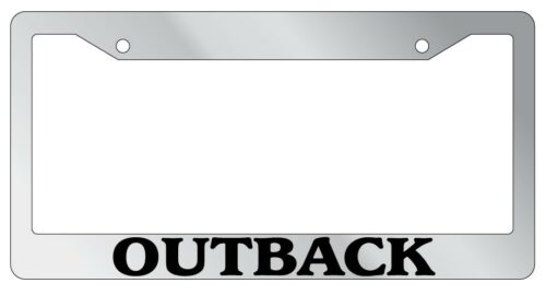 Chrome License Plate Frame Outback Auto Accessory Novelty 1583