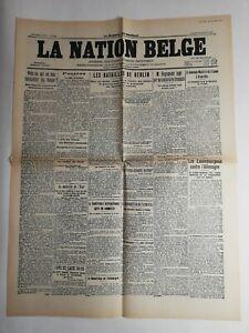 N244-La-Une-Du-Journal-La-nation-belge-11-janvier-1919-les-batailles-de-Berlin