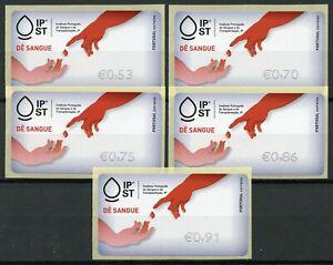 Portugal-2019-MNH-Give-Blood-Solidarity-5v-S-A-Set-Label-Medical-Health-Stamps