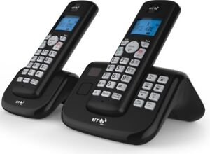 Details about BT 2x Cordless Home Phone with Nuisance Call Blocking and  Answering Machine Twin