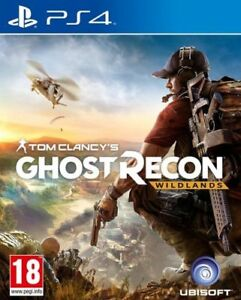 Tom-CLANCY-S-GHOST-RECON-Holz-ps4-Spiel-sehr-guter-Zustand
