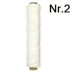 Kerzendocht Docht 10m 0,40 EUR//m Runddocht Stärke 2