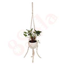 Classic Macrame Decorative Handmade Plant Hanger Natural Jute Twine Basket D06