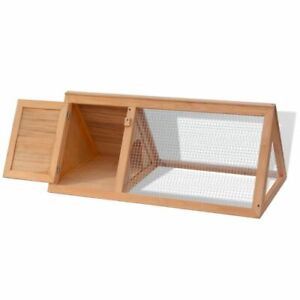 vidaXL-Rabbit-Hutch-Wooden-Outdoor-Triangle-Guinea-Pig-Cage-Pet-House-Animal