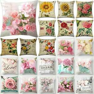 New-UK-Letter-Polyester-Cushion-Cover-Pillow-Case-Waist-Throw-Home-Sofa-Decor