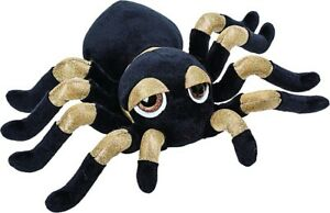 Suki-14392-Tarantula-Spider-13-cm-Gold-Black-Cuddly-Toy-Peepers-Li-L-Suki