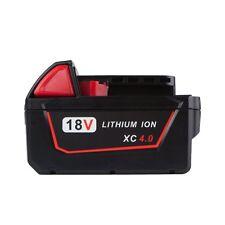 New for Milwaukee M18 M18B 48-11-1840 18V 4.0Ah Li-ion Cordless Tool Battery