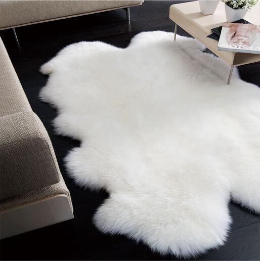 Quatro Pelt Large Sheepskin Rug Ivory
