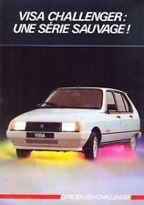 CITROEN Visa Challenger 1985 French Market Sales Brochure