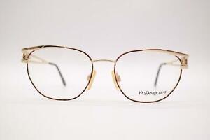 Vintage-Yves-Saint-Laurent-4027-Y119-Gold-Kupfer-oval-Brille-Brillengestell-NOS