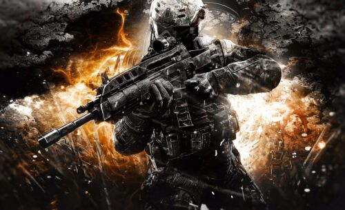 Call of Duty Black Ops 2 Game Canvas Print Art Home Decor Wall