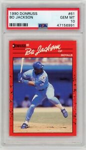 1990 Donruss #61 BO JACKSON ROYALS PSA 10 Graded Card