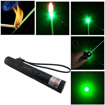 Adjustable Focus Military Green Laser Pointer Pen 5mw 532nm Zoomable Burning