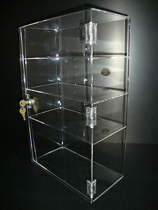 Acrylic Countertop Display Case 12 Quot X 6 Quot X 19 Quot Locking