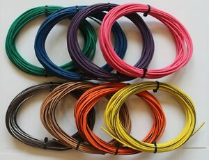 18 gauge BROWN with YELLOW Stripe 25 feet Bulk TXL Wire Automotive Engine Bay