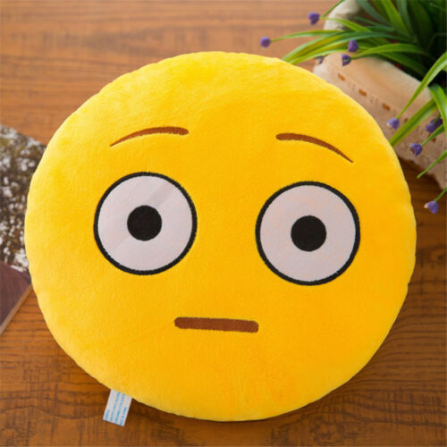 Soft Smiley Emoticon Stuffed Plush Toy Doll Round Pillow Case Cover
