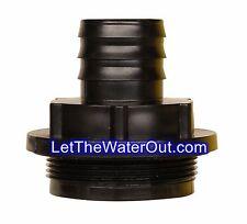 "RAINPAL RBI125F Rain Barrel Inlet Fitting/Adapter(2""Fine Bung Cap to 1.25""Barbed"