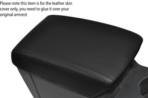 BLACK STITCHING LEATHER ARMREST SKIN COVER FITS FORD RANGER 2012-2015