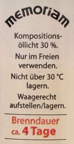 Memoriam 4T Premium Grabkerzen Grablichter Öllichter Margeriten Nr 414 Aeterna