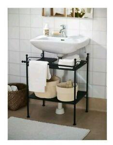 Details zu IKEA RÖNNSKÄR Badezimmermöbel schwarz