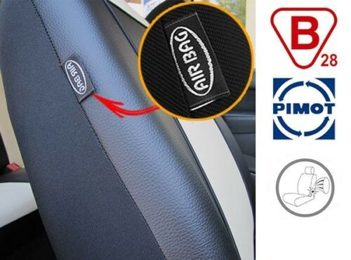 Black Eco Leather Tailored Full Set Seat Covers For Toyota Avensis up 2003