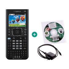 TI Nspire CX CAS Taschenrechner Grafikrechner + Lern-CD Ladekabel