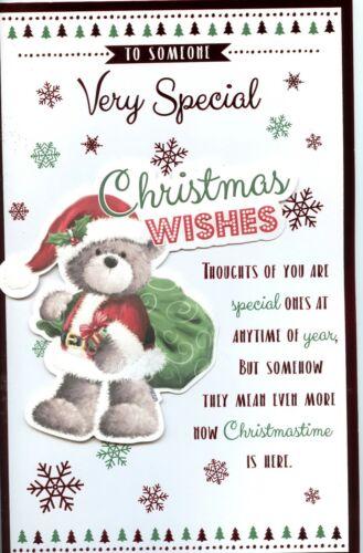 Quelqu /'un specialchristmas Extra Large Carte avec de belles versets