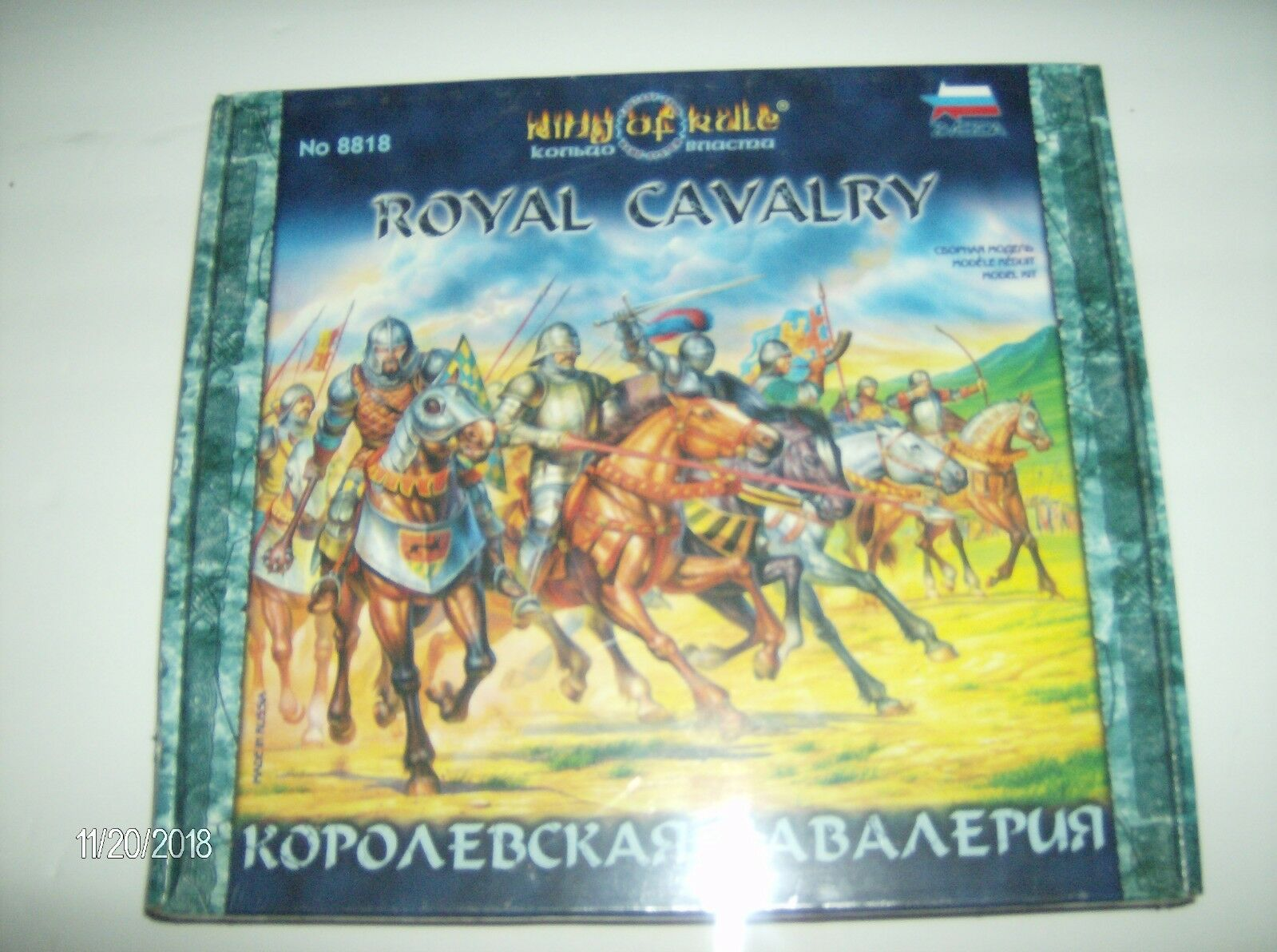 Zvezda Royal Cavalry 28mm (King of of of Rule) 8 mounted unpainted Figures 328891