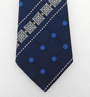 Strange kipper tie Traditional wide design Vintage 1960s English mens clothing
