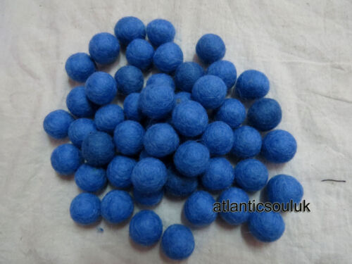 FB13 Hand Craft Collectible 2cm//20mm wool Decorative blue Felt Ball in LOT Nepal