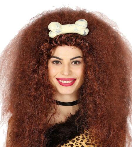 Ladies Cavegirl Cavewoman Hair Bone Clip Fancy Dress Costume Outfit Accessory
