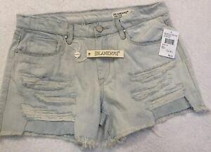 62354882b9c0 BLANK NYC Womens Size 29 Tomboy Jean Shorts Distressed Frayed CutOff ...