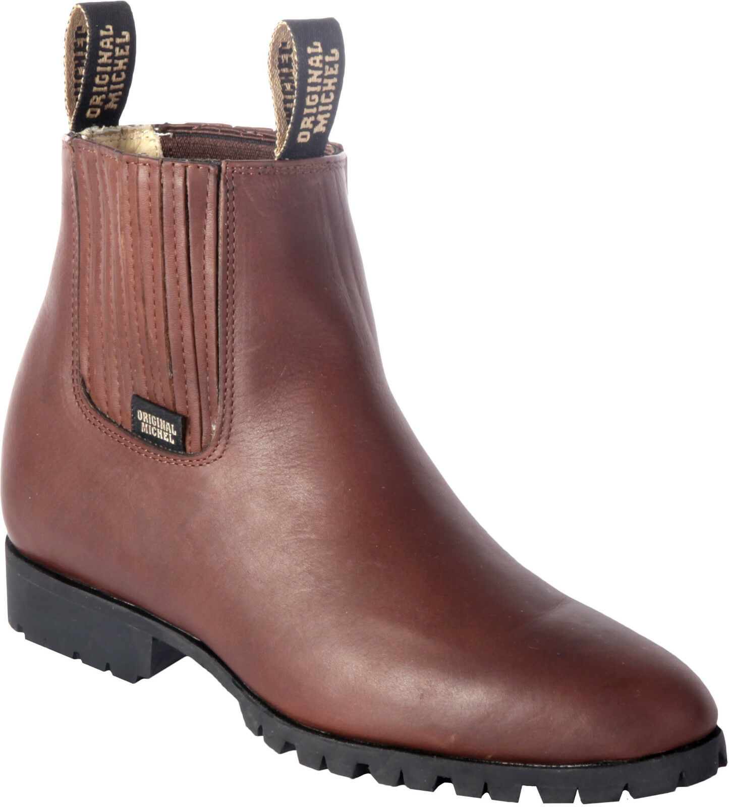 Men's Original Michel Genuine Cowhide Leather Ankle Work Boots Industrial Sole