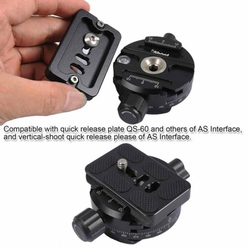Panoramic Panorama Panning Clamp To Camera Quick Release Plate Tripod Ball Head