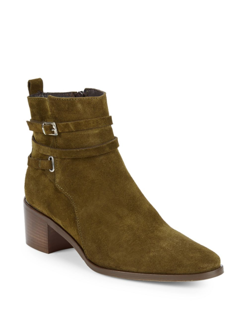 NIB Charles David Size 36 6 Women's Hunter Suede Ankle Boot in Khaki (Sage)  279