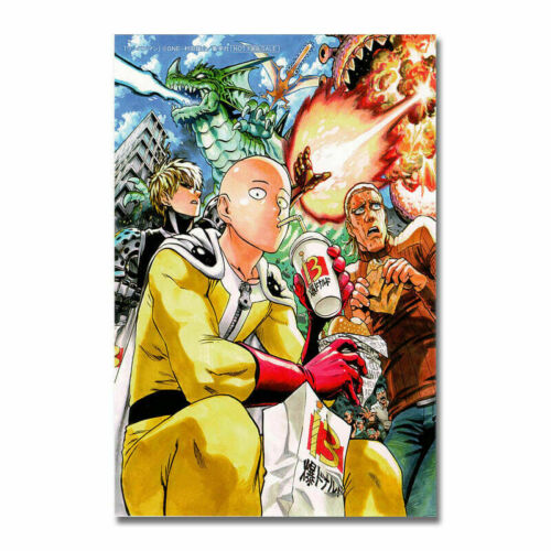 T800 Hot One Punch Man Saitama Genos Anime Movie Silk Poster Art Print
