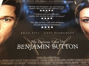The Curious Case Of Benjamin Button 2008 Original Uk Quad Cinema Poster Ebay