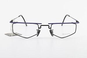 CHAI-Brille-Mod-GC-F10-51-24-150-Crazy-Vintage-Eyeglasses-Frame-Square-NOS