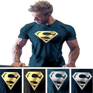 e407734efe6 Men s NEW Superman Gym Singlets t-shirt Bodybuilding Fitness Sports ...