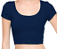 Crop-top-scoop-neck-short-sleeve-fitted-tee-casual-stretch-cotton-solid-top-S-L thumbnail 20