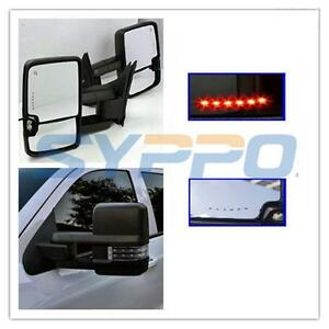 Details about BLACK 99-06 Silverado Sierra Towing Manual Mirrors LED Turn  Signals Backup Lamps