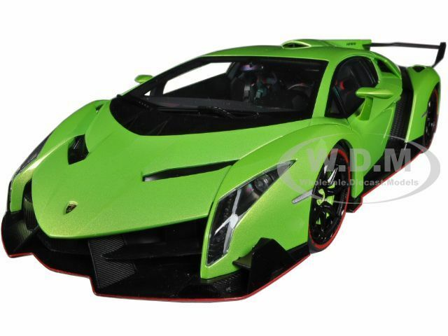 Ebay Diecast Model Cars >> Lamborghini Veneno Green 1 18 Diecast Model Car By Autoart 74509 Ebay