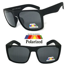 Mens Oversized Square Sunglasses Matte Black Polarized Motor-cycle sports