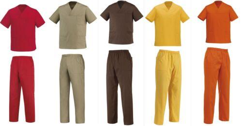 Dottore Infermiera Pantaloni Set Loose Shirt Oss Beautician Egochef Large Cook 5colori fxUUO0