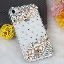 Luxury Bling Ultra Thin Rhinestone Clear TPU Case Cover For Apple iPhone 4/4S