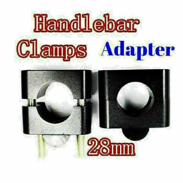 2pcs Motorcycle Handle Bar Mount Fat Bar Adapter Mounts Riser Clamp 22/28mm ATV
