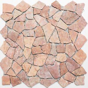 Marmor-Bruchmosaik-uni-Rossoverona-Fliesenspiegel-Kueche-Art-44-30-140-10Matten