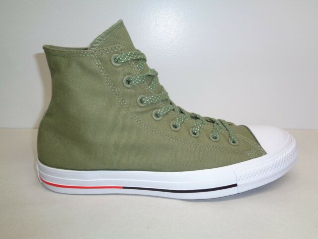 08665783df86 Converse Size 9 M CHUCK TAYLOR ALL STAR HI Fatigue Green Sneakers New Mens  Shoes