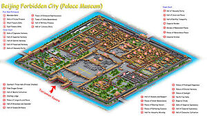 Carte Chine Ming.Poster Forbidden City Map Beijing China Chinese Ming Dynasty