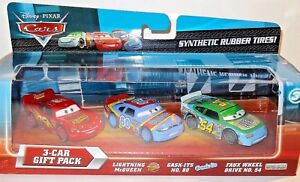 CARS-3-PACK-SYNTHETIC-RUBBER-TIRES-Mattel-Disney-Pixar-GASK-ITS-FAUX-WHEEL